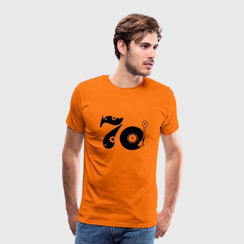 Orange doré Seventies 70 T-shirts - T-shirt Premium Homme