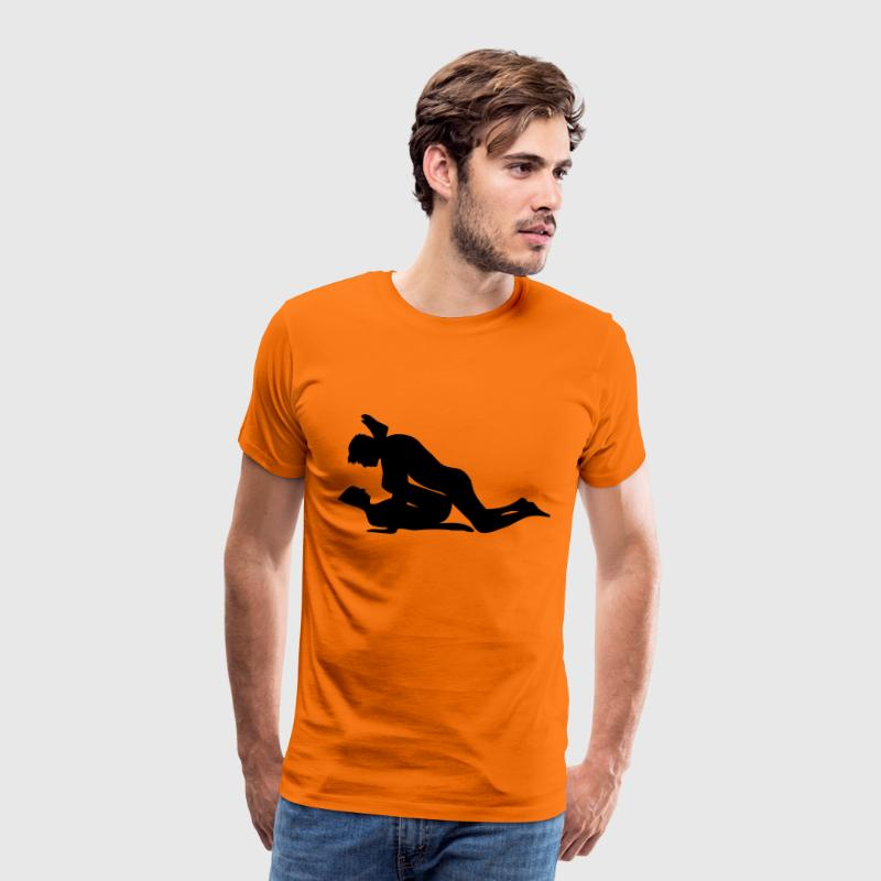 sex position T-shirts - Mannen Premium T-shirt
