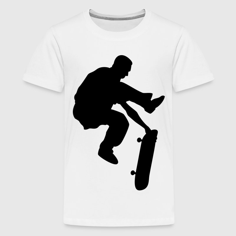 skateboard x games logo sport skate board Kinder T-Shirts - Teenager Premium T-Shirt