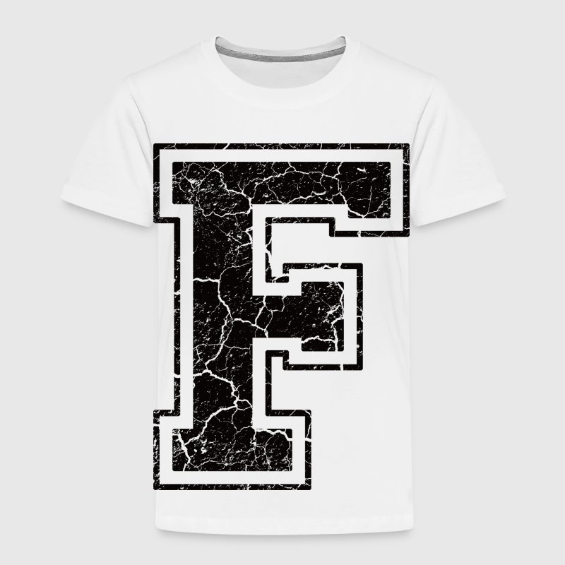 Letter F in the grunge look Kids' Shirts - Kids' Premium T-Shirt