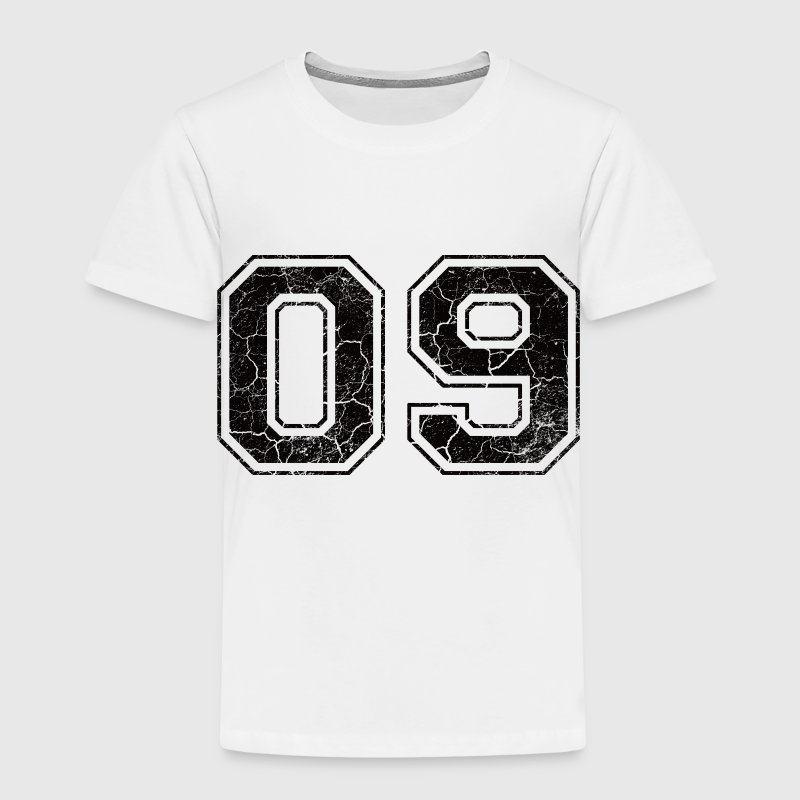 Number 09 in the grunge look Kids' Shirts - Kids' Premium T-Shirt