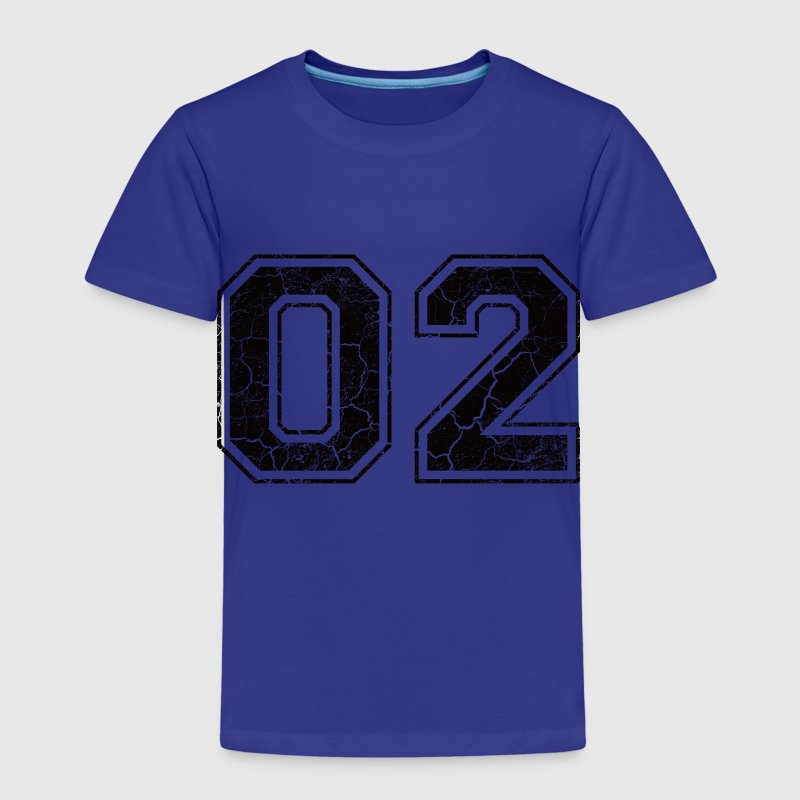 Number 02 in the grunge look Kids' Shirts - Kids' Premium T-Shirt