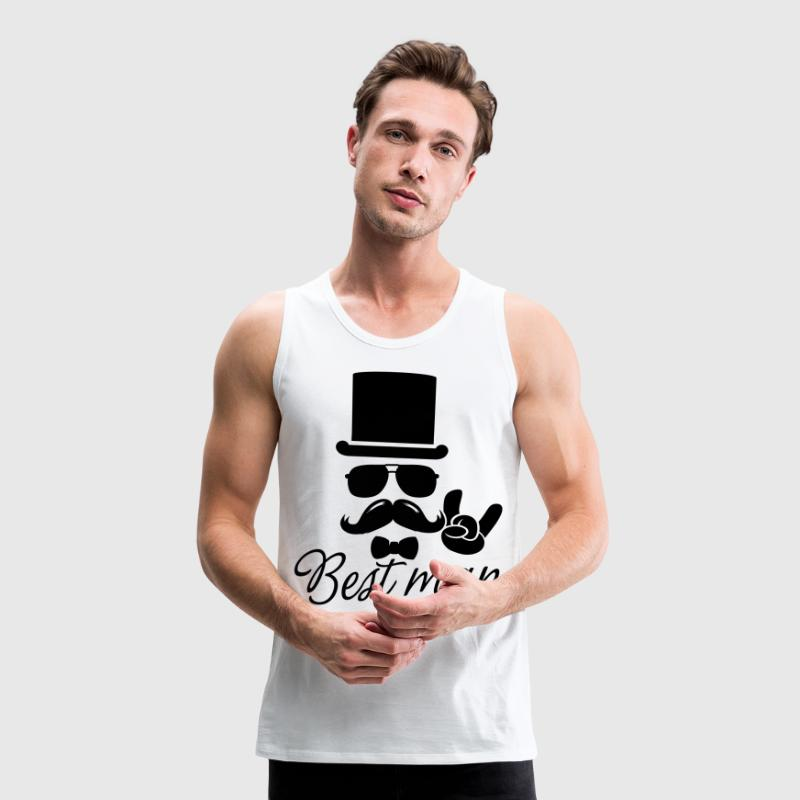 Groom Wedding Marriage Stag do night best man T-Shirts - Men's Premium Tank Top