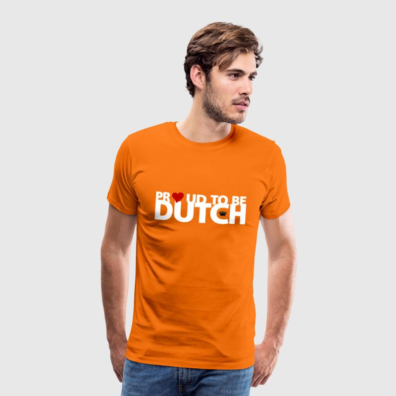 Proud to be Dutch (witte tekst) T-shirts - Mannen Premium T-shirt
