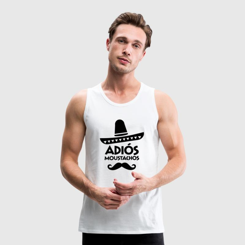 Adiós Moustachos T-Shirts - Men's Premium Tank Top