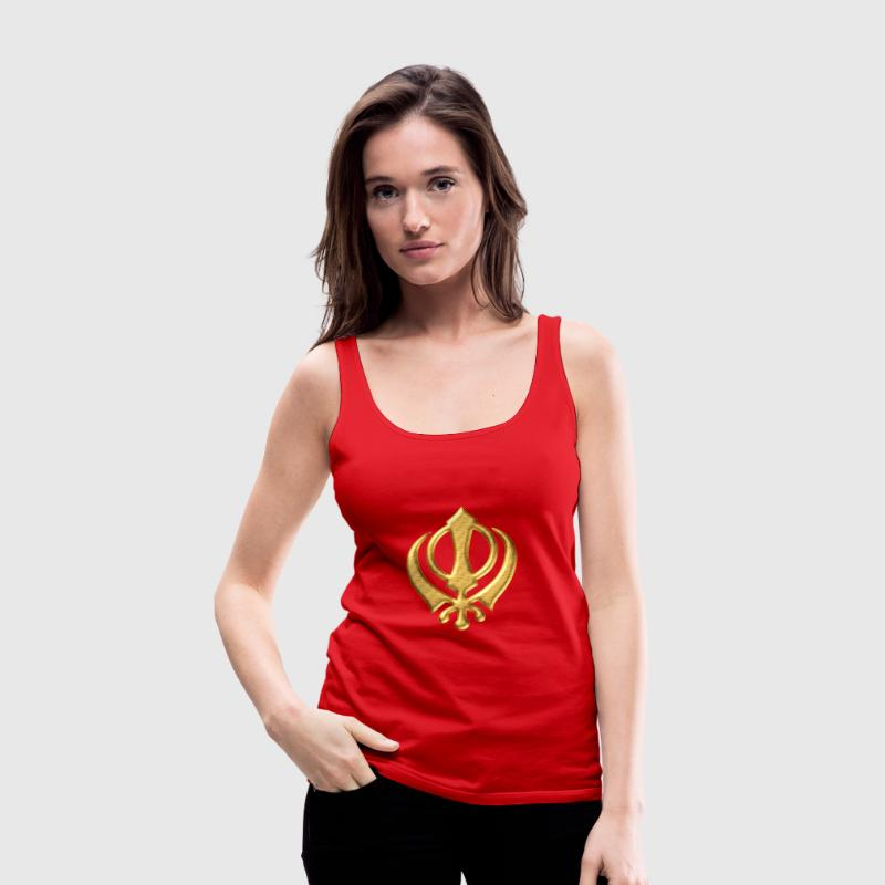 Khanda Sikh symbol swords religion Sikhism Tops - Women's Premium Tank Top