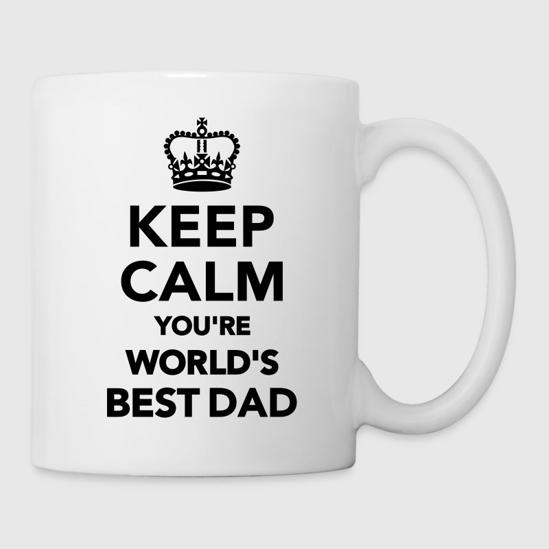Keep calm world's best Dad Flaschen & Tassen - Tasse