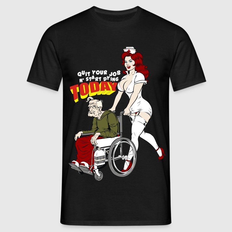 Nurse And The Playboy Old Man  - Men's T-Shirt