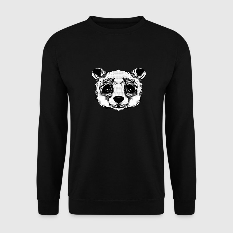 Une tête d'ours panda  Sweat-shirts - Sweat-shirt Homme