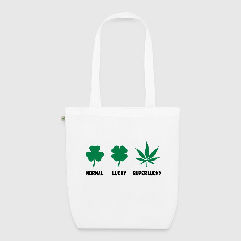 Cannabis / Hemp / Shamrock - Super Lucky mode Bags & Backpacks - EarthPositive Tote Bag