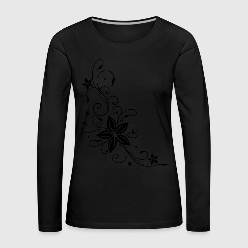 Tribal mit Blumen, floral element Long Sleeve Shirts - Women's Premium Longsleeve Shirt