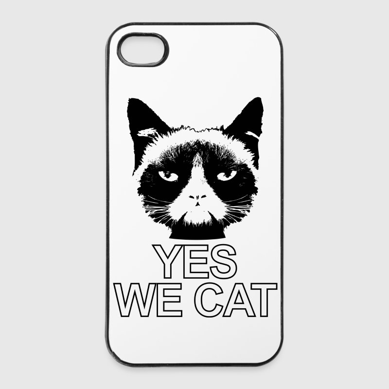 böse guckende Katze Yes we cat Kater cat Handy & Tablet Hüllen - iPhone 4/4s Hard Case