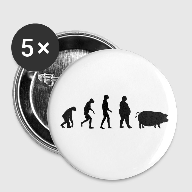Evolution from ape to man to pig Buttons - Buttons small 25 mm