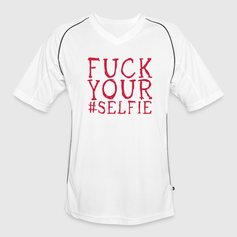 fuck your selfie Tee shirts - Maillot de football Homme