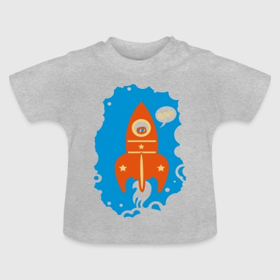 Heather grey Rocket launcher Shirts - Baby T-Shirt