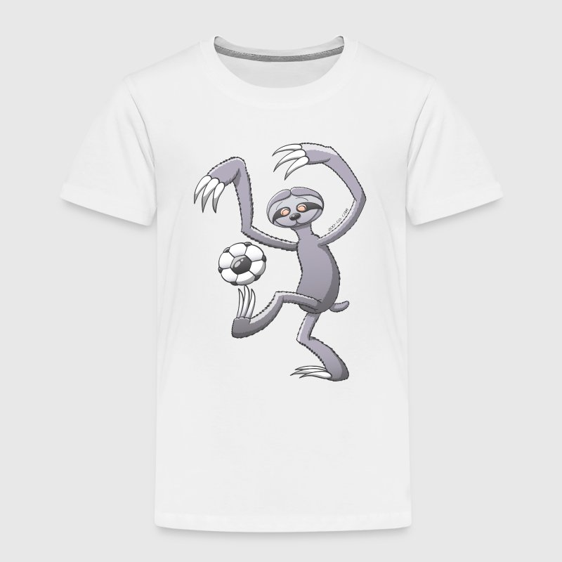 Sloth Playing Football Shirts - Kids' Premium T-Shirt