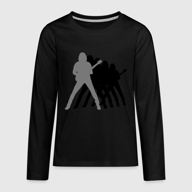 guitarist Long Sleeve Shirts - Teenagers' Premium Longsleeve Shirt