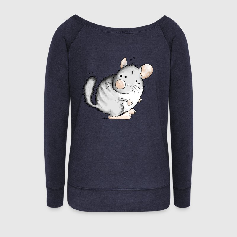 Doux Chinchilla - Chinchillidae - Rongeur Sweat-shirts - Pull Femme col bateau de Bella