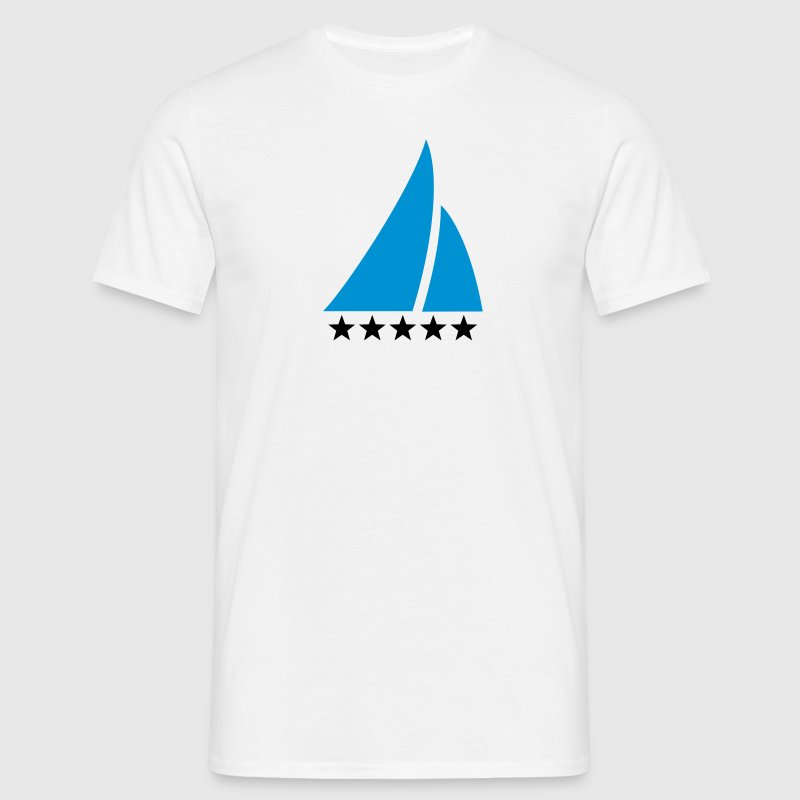 Sailing Five Star, Sailor, Boat, Surfing, Sea, T-Shirts - Men's T-Shirt