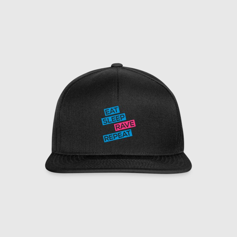 eat sleep rave repeat Caps & Mützen - Snapback Cap