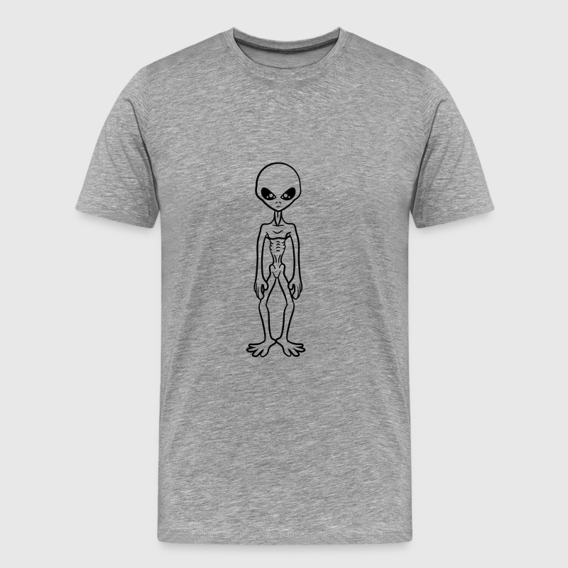Cooler Grey Alien T-Shirts - Men's Premium T-Shirt