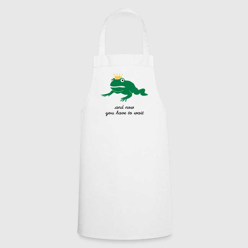 grumpy frog prince - waiting  Aprons - Cooking Apron