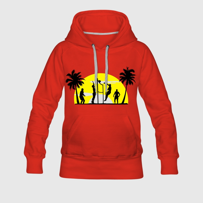 beachvolley, volleyball  Pullover & Hoodies - Premiumluvtröja dam