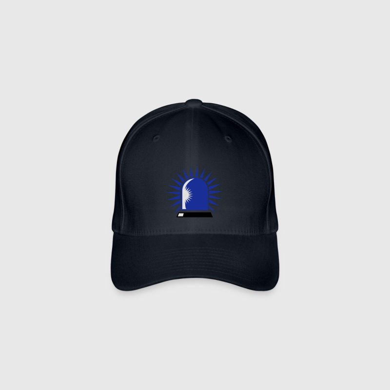 rotating blue beacon light Caps & Hats - Flexfit Baseball Cap