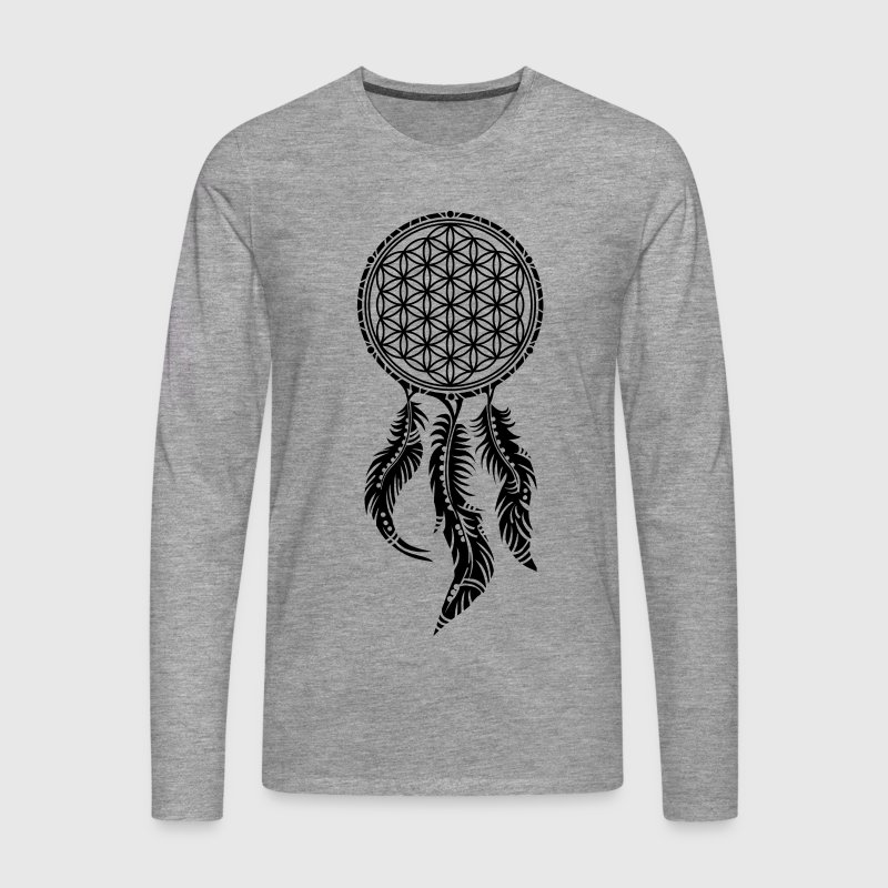 Flower of Life, Dream Catcher Spiritual, Indians Manches longues - T-shirt manches longues Premium Homme