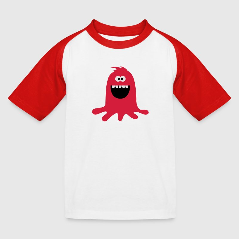 Lustiges &  Niedliches Farb Klecks Monster T-Shirts - Kinder Baseball T-Shirt