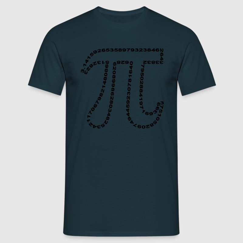 Pi outline - T-shirt herr