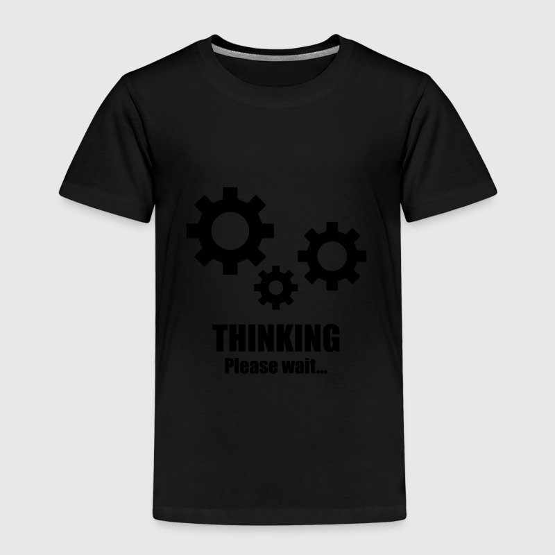 Thinking... please wait T-shirts - Børne premium T-shirt