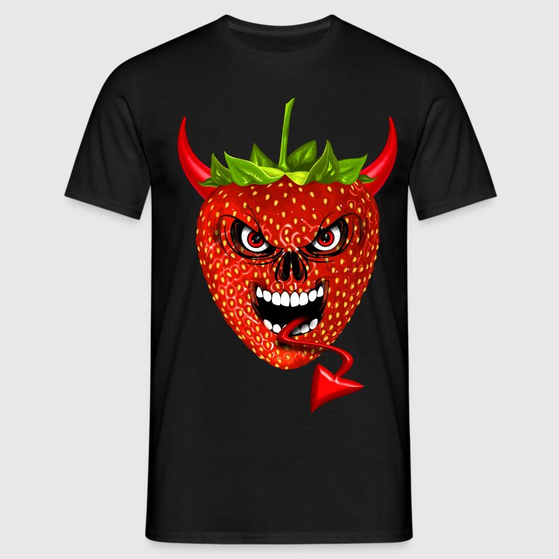 devil strawberry fraise skull Tee shirts - T-shirt Homme