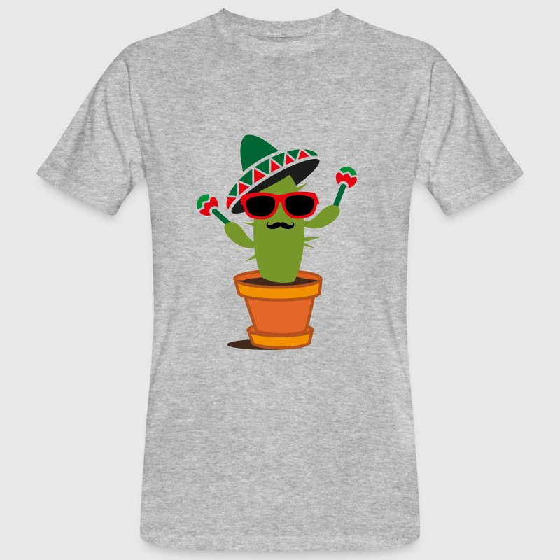 Cactus with sombrero and maracas  T-Shirts - Men's Organic T-shirt