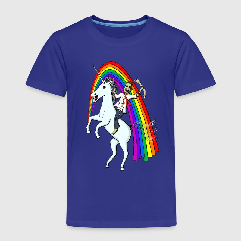 Zombie Riding A Unicorn Shirts - Kids' Premium T-Shirt