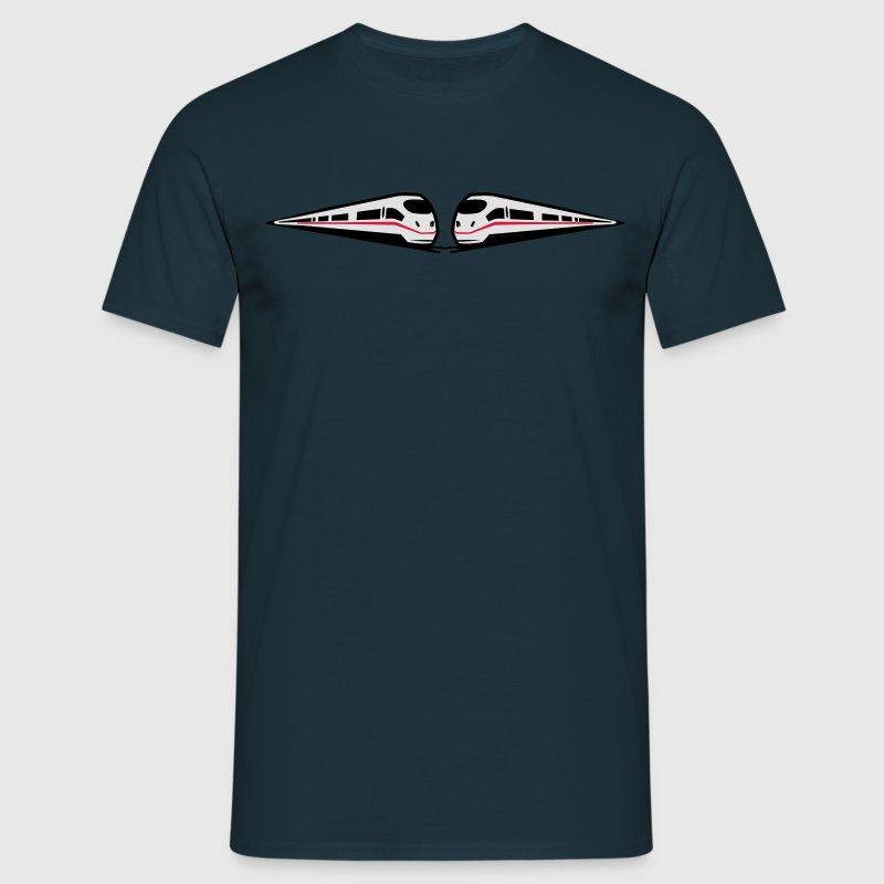 zug eisenbahn ice schnell t shirt spreadshirt. Black Bedroom Furniture Sets. Home Design Ideas