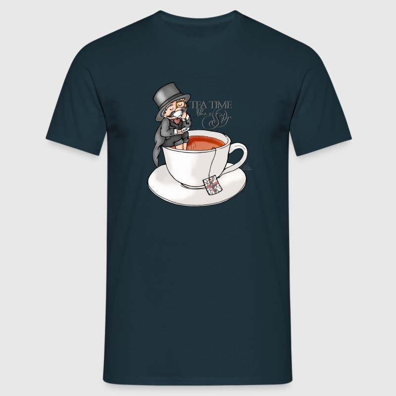 Navy tea time like a Sir with Earl Grey (text) T-Shirts - Men's T-Shirt
