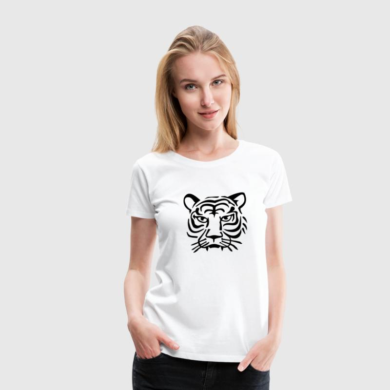Tigerkopf / tiger head (1c) T-Shirts - Frauen Premium T-Shirt