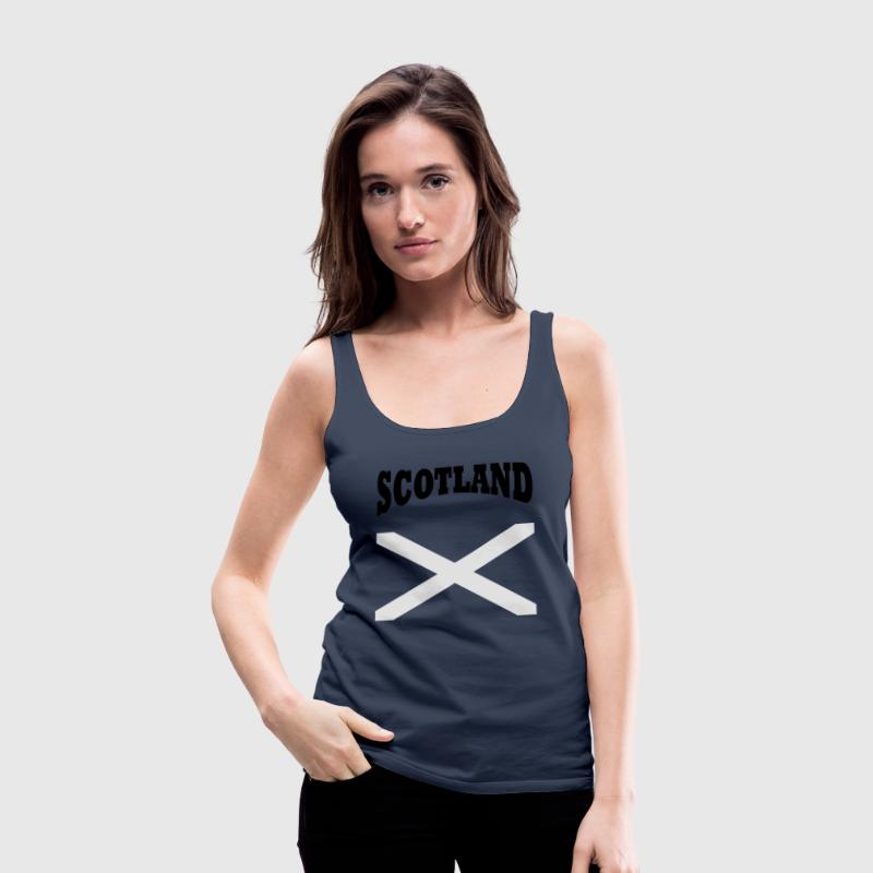 Scotland + cross Tops - Women's Premium Tank Top
