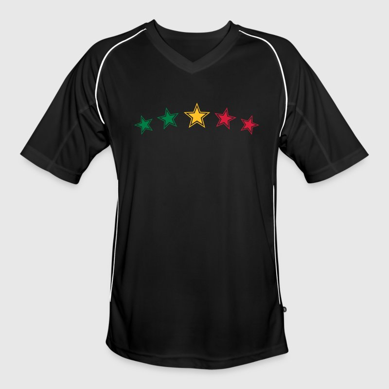 Reggae Star, Music, Rastafari, Jamaica, Jah, Rasta T-Shirts - Men's Football Jersey