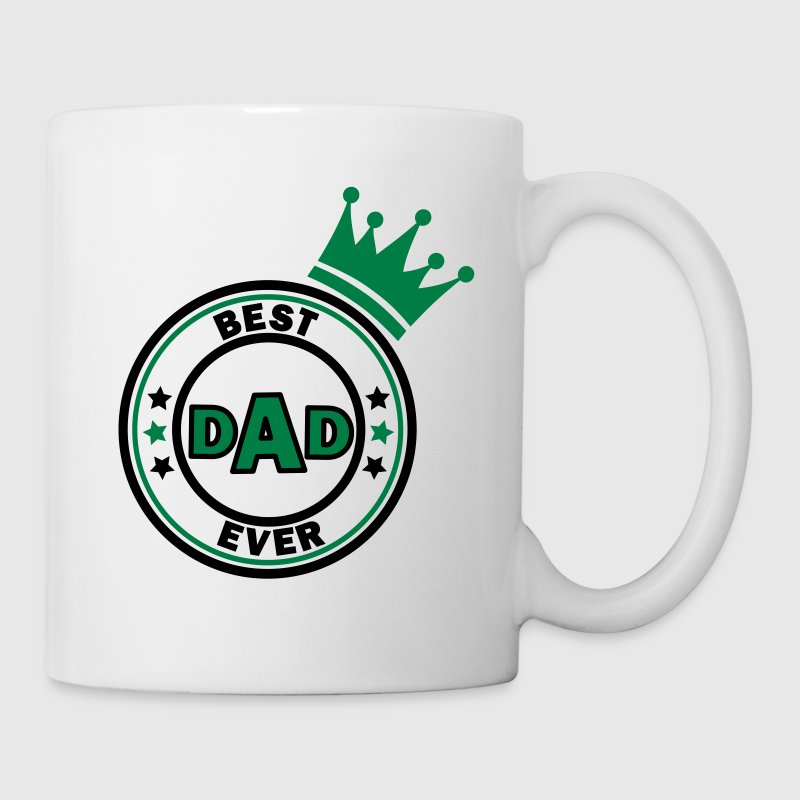best dad ever bunt Flaschen & Tassen - Tasse