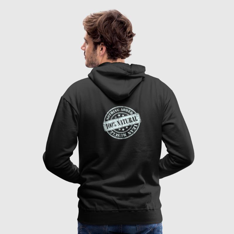 100% Natural White  Hoodies & Sweatshirts - Men's Premium Hoodie
