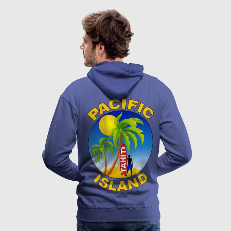 tahiti pacific island Sweat-shirts - Sweat-shirt à capuche Premium pour hommes