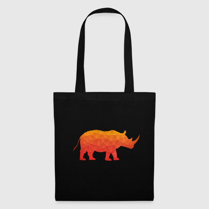 Retro Triangle Origami Rhinoceros / Rhino Bags & Backpacks - Tote Bag
