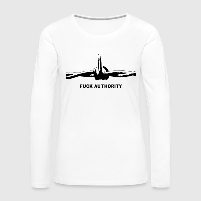 Fuck Authority (Barbwire) - Frauen Premium Langarmshirt