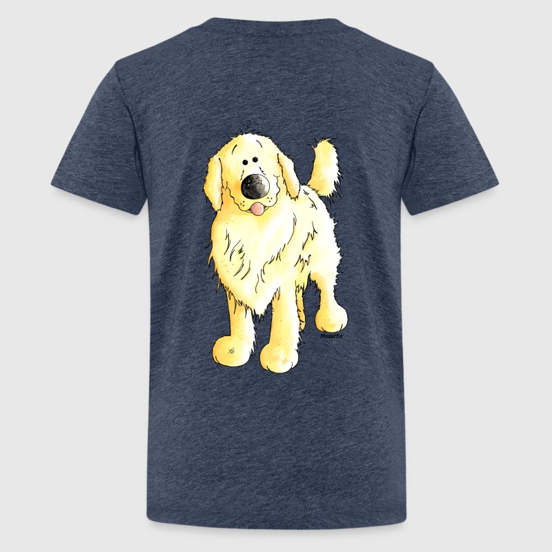 Funny Golden Retriever Shirts - Teenage Premium T-Shirt
