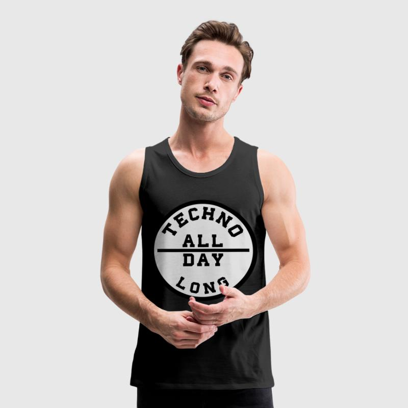 TECHNO ALL DAY LONG T-Shirts - Männer Premium Tank Top