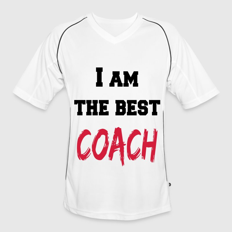 I am the best coach T-Shirts - Men's Football Jersey
