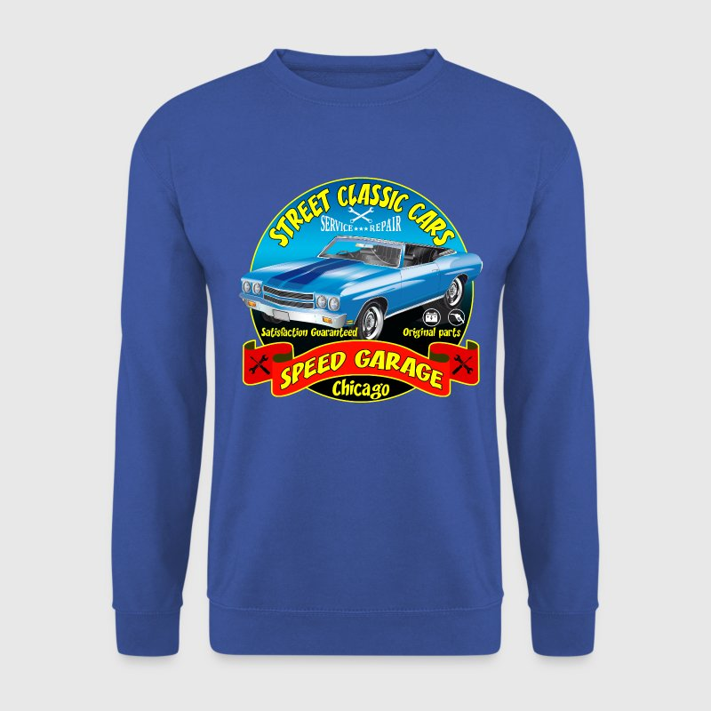 vintage us street car Sweat-shirts - Sweat-shirt Homme