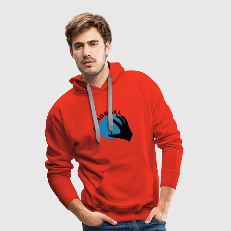 Handball_feel_it_6.cdr - Sweat-shirt à capuche Premium pour hommes